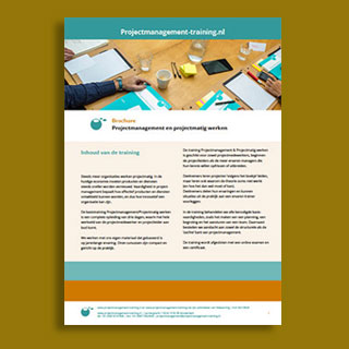 Brochure voor Projectmanagement-training.nl